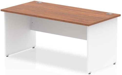 Gentoo Two-Tone Rectangular Desk with Panel End Legs - (w) 1600mm x (d) 800mm
