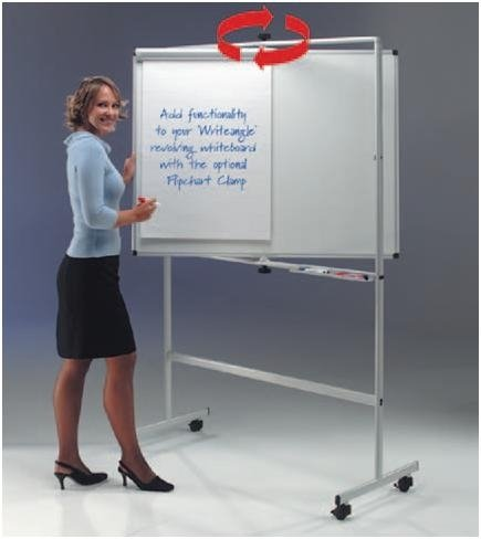 Gopak WriteAngle Revolving Laminate White Board - W1200 x H1200mm