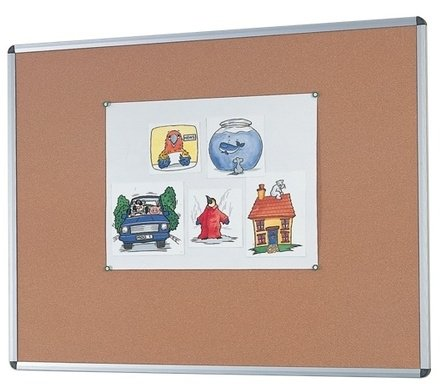 Gopak Aluminium Framed Cork Noticeboard - 2400 x 1200mm