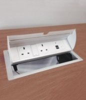 Metalicon Aspect Desk Insert Power & Data Module (2 Power, 2 Cat5, 2 USB, 3M Lead)