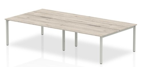 Gentoo Bench Desk, Pod of 4, Back to Back- (w) 3200mm x (d) 1600mm