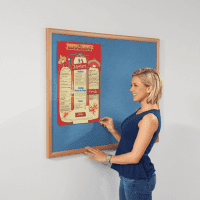 Gopak Eco Recycled Light Oak Noticeboard - 600 x 900mm