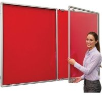 Spaceright Flameshield Tamperproof Fire Retardant Noticeboards 2400 x 1200mm