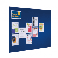 Gopak Frameless Felt Covered Noticeboard - 600 x 900mm