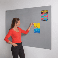 Gopak Frameless Resist-A-Flame Noticeboard - 600 x 900mm