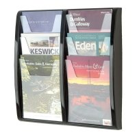 Gopak Panorama Leaflet Dispenser 6 x A4 Size - 521 x 502mm