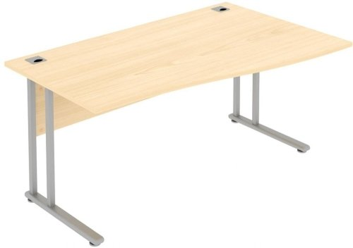 Elite Flexi Single Wave Desk 1400 x 800-600mm