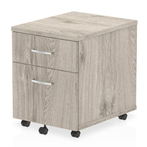 Gentoo Bulk Mobile Pedestal 2 Drawers - (w) 430mm x (d) 500mm