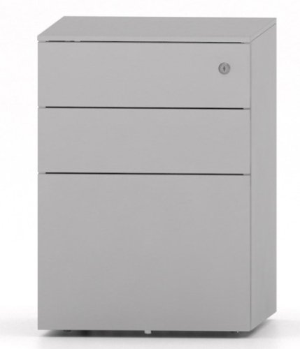 Metalicon Cube Mobile Steel Pedestal 2 Personal Drawers 1 File Drawer