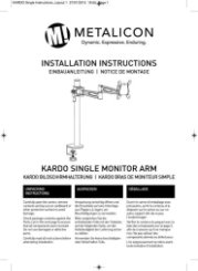 Metalicon Kardo Single Arm PMA521 Instructions