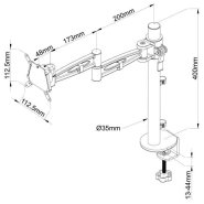 Metalicon Kardo Single Arm PMA521 Technical Drawing