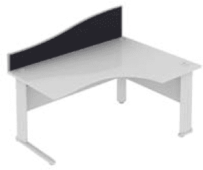 Elite Desk Mounted Wave System Fabric Screen - Width 1573mm
